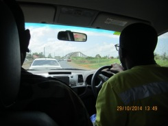 Driving to Parbo - Huge Bridge