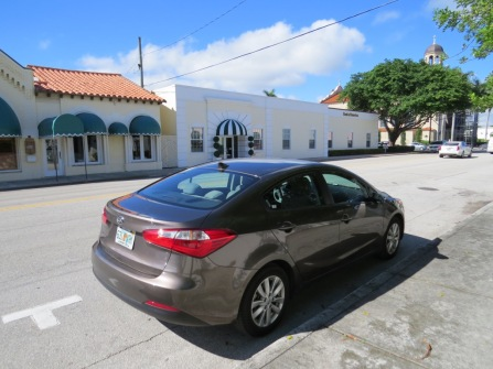 My rental car in Palm Beach