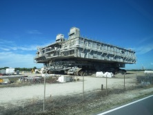 Crawler that takes rockets to launch pads