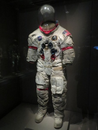 Space suit with moon dust still on it - cool