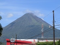 Arenal Volcano from La Fortuna main street