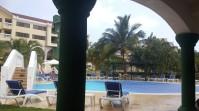 Poolside rain
