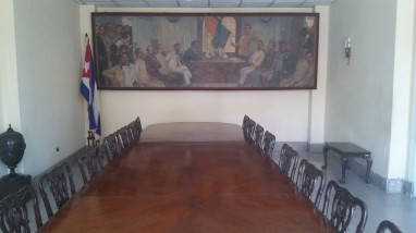 Cabinet room. This was the original Presidential Palace.