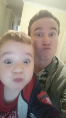 He has forgotten many of the things we used to do together. But he can now pull faces in a selfie. #gifted #whatmoredoyouneed