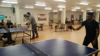 Ping pong at Rec Room